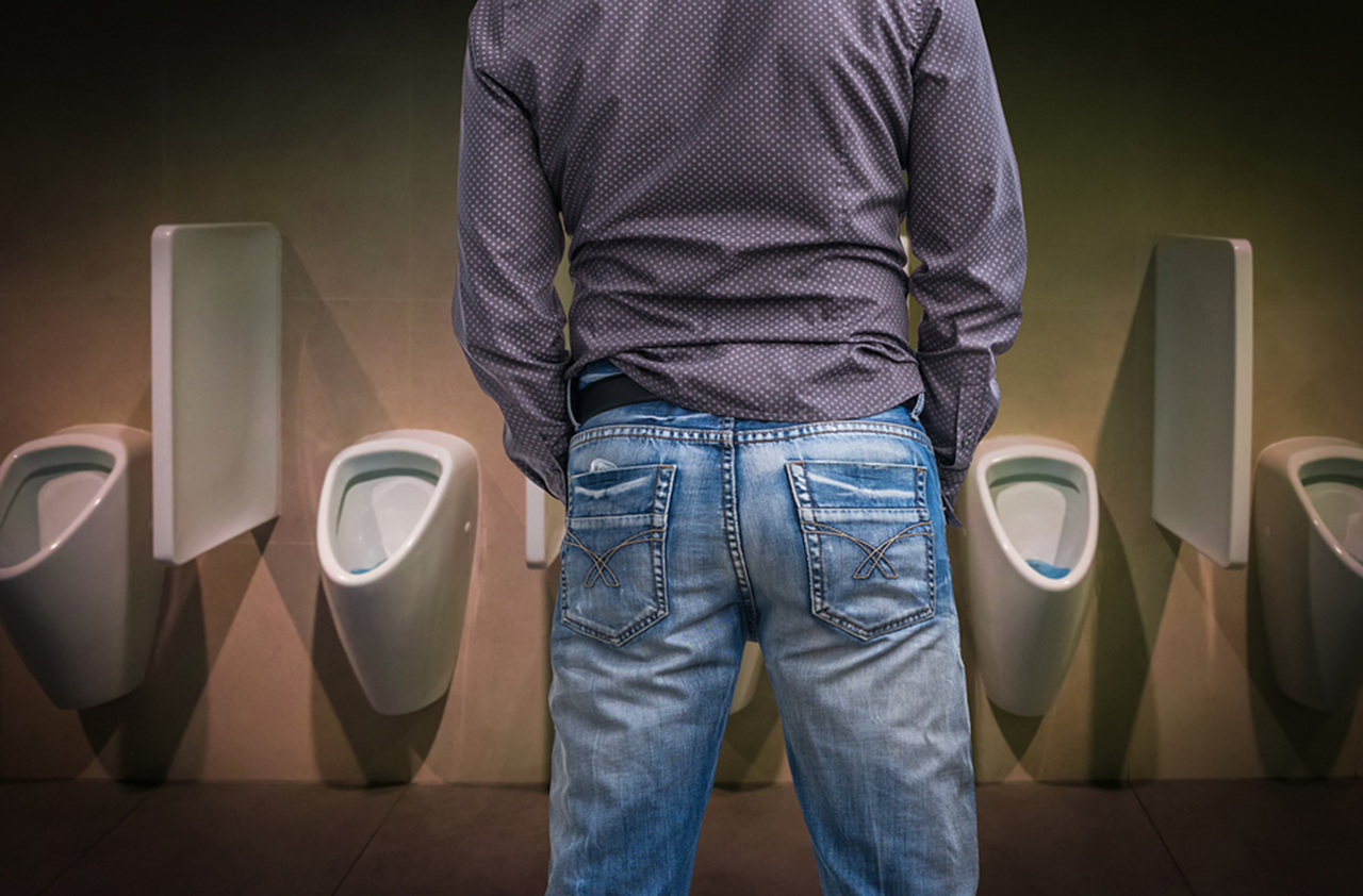 Male transgender and urinate